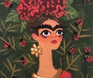 art, drawing, and frida kahlo image