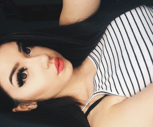 black, girl, and lashes image
