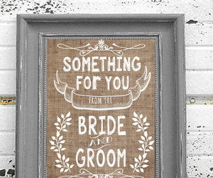 chalkboard, wedding, and poster image