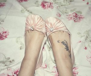 shoes, tattoo, and pink image
