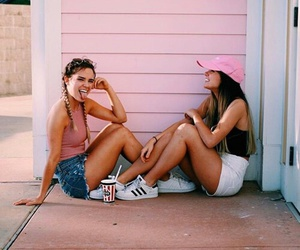 best friends, fashion, and outfit image