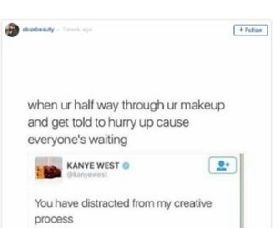 funny, kanye, and make image
