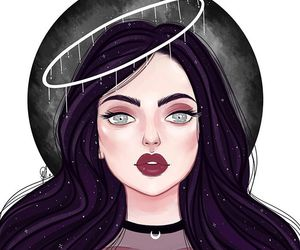 colored+outlines, art, and claudia ferraz image
