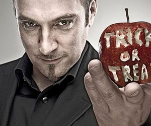apple, goatee, and trick or treat image