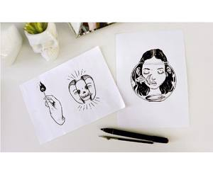 drawing, flowerpot, and illustration image