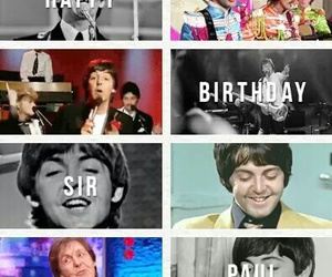 beatles, happy birthday, and Paul McCartney image