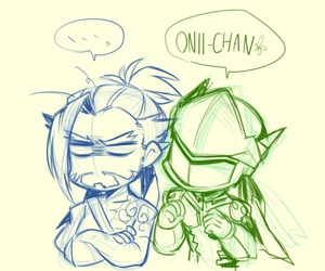 genji, hanzo, and overwatch image