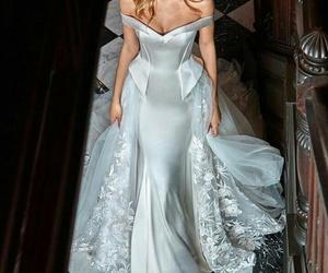 wedding dress, wedding, and beauty image