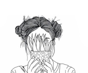 outline, tumblr, and art image