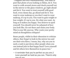 quotes, true, and self-love image