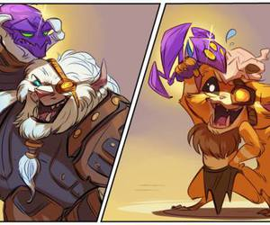 gnar, league of legends, and rengar image