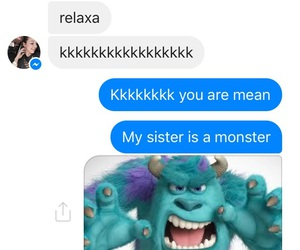 message and silly sister image