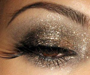 make up, makeup, and glitter image