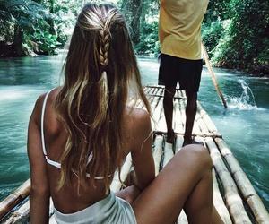 beautiful, blonde, and jungle image