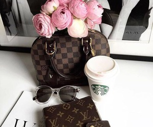 Louis Vuitton, luxury, and starbucks image