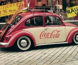 cars, coca cola, and beige image