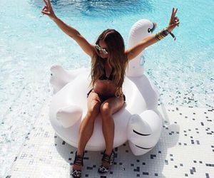 fun, summer, and pool image