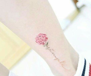 flower, girl tattoo, and ink image