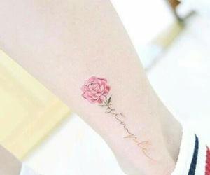 flower, girl tattoo, and flower lover image