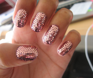 girls, sparckle, and nailart image
