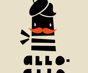 french, illustration, and moustache image