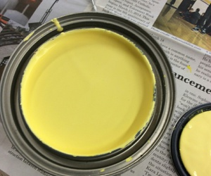 aesthetic, paint, and yellow image
