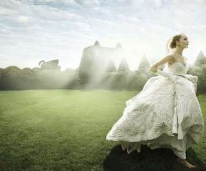 ball gown, fashion photography, and romantic image