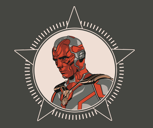 iron man, Marvel, and vision image