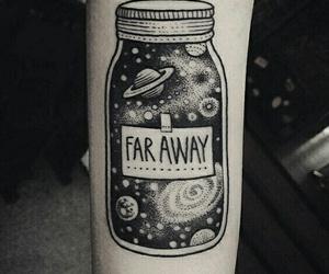 tattoo, galaxy, and far away image