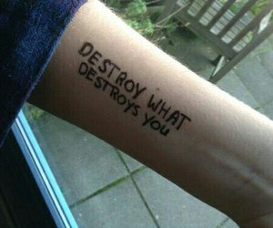tatto and destroys self image