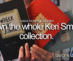 before i die, book, and keri smith image