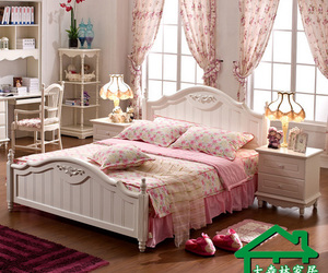 bedroom, floral, and pink image