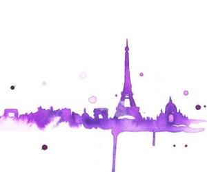 paris, purple, and art image