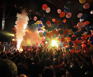 party, concert, and balloons image