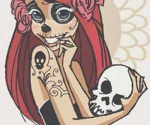ariel, disney, and skull image