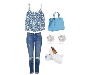 outfit, Polyvore, and Prada image
