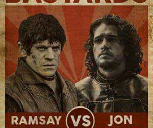 game of thrones, jon snow, and ramsey bolton image