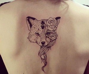 back and fox tattoo image