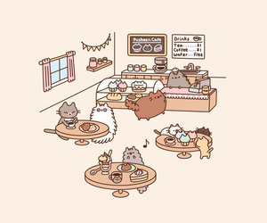 cat and cat caffee image