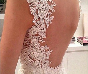 back, married, and dress image