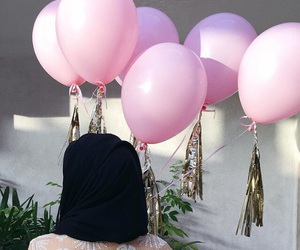 arab, baloons, and beauty image
