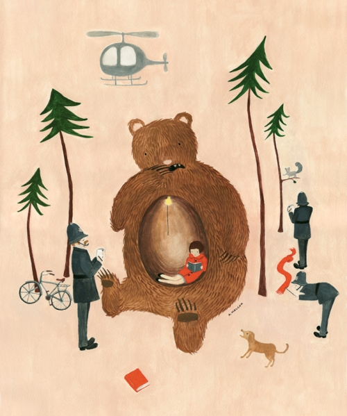bear and illustration image