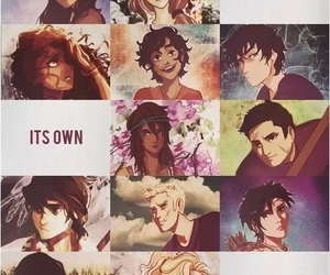 percy jackson, nico di angelo, and annabeth chase image