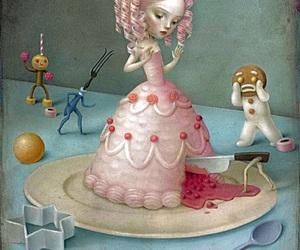 cake, art, and Nicoletta Ceccoli image