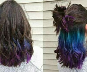 blue, cabelo, and girl image