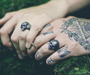 goth, ink, and rings image
