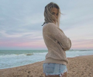 hipster, beach, and clouds image