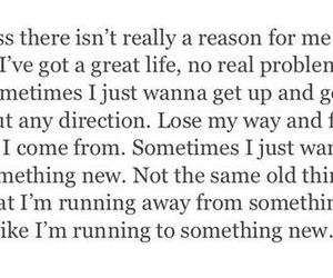 quote, running away, and going away image