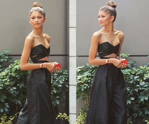 zendaya, black, and outfit image