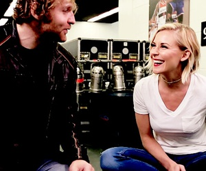 dean ambrose, renee young, and deanee image